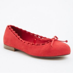 Torrid red whip stitch almond flat shoes size 9